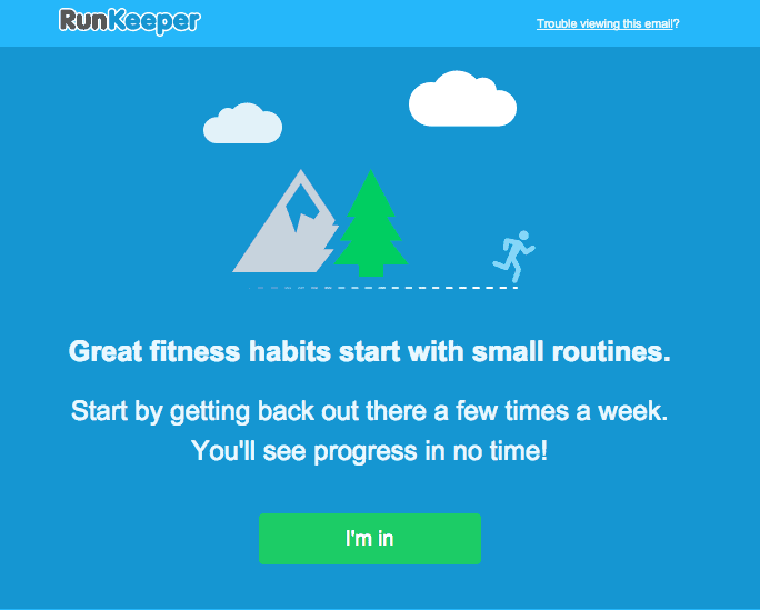email marketing - runkeeper