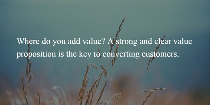 add value to customers