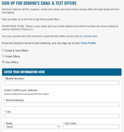 Display signup forms at conferences