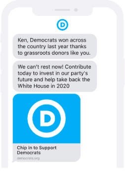 political-sms-example