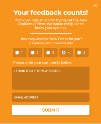 Gather feedback from customers for holiday sales