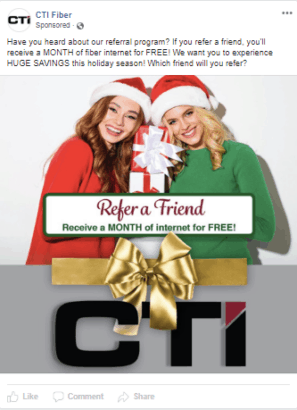 Referral Program for holiday marketing